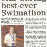 Steve is the star during the best-ever swimathon