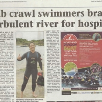 Pub crawl swimmers brave turbulent river for hospice