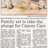 Family set to take plunge for Cancer Care