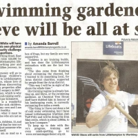 Swimming Gardener Steve will be all at sea