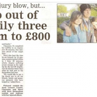 Two out of family three swim to £800