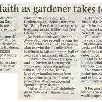 Leap of faith as gardener takes to water