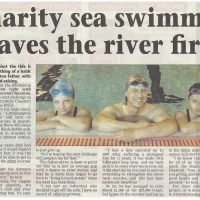 Charity sea swimmer braves river first